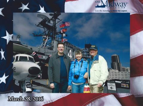 My mother, John, and me on the Midway