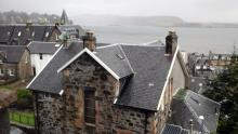 View from the B&B window in Oban